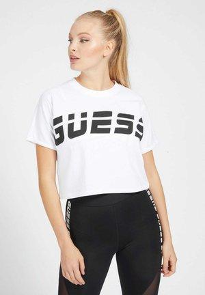 LOGO VORN UND HINTEN - T-shirt print - weiß