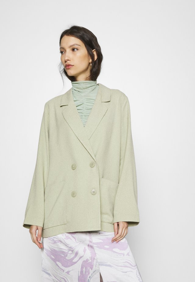 TWIGGY - Manteau court - green dusty light/salt and pepper