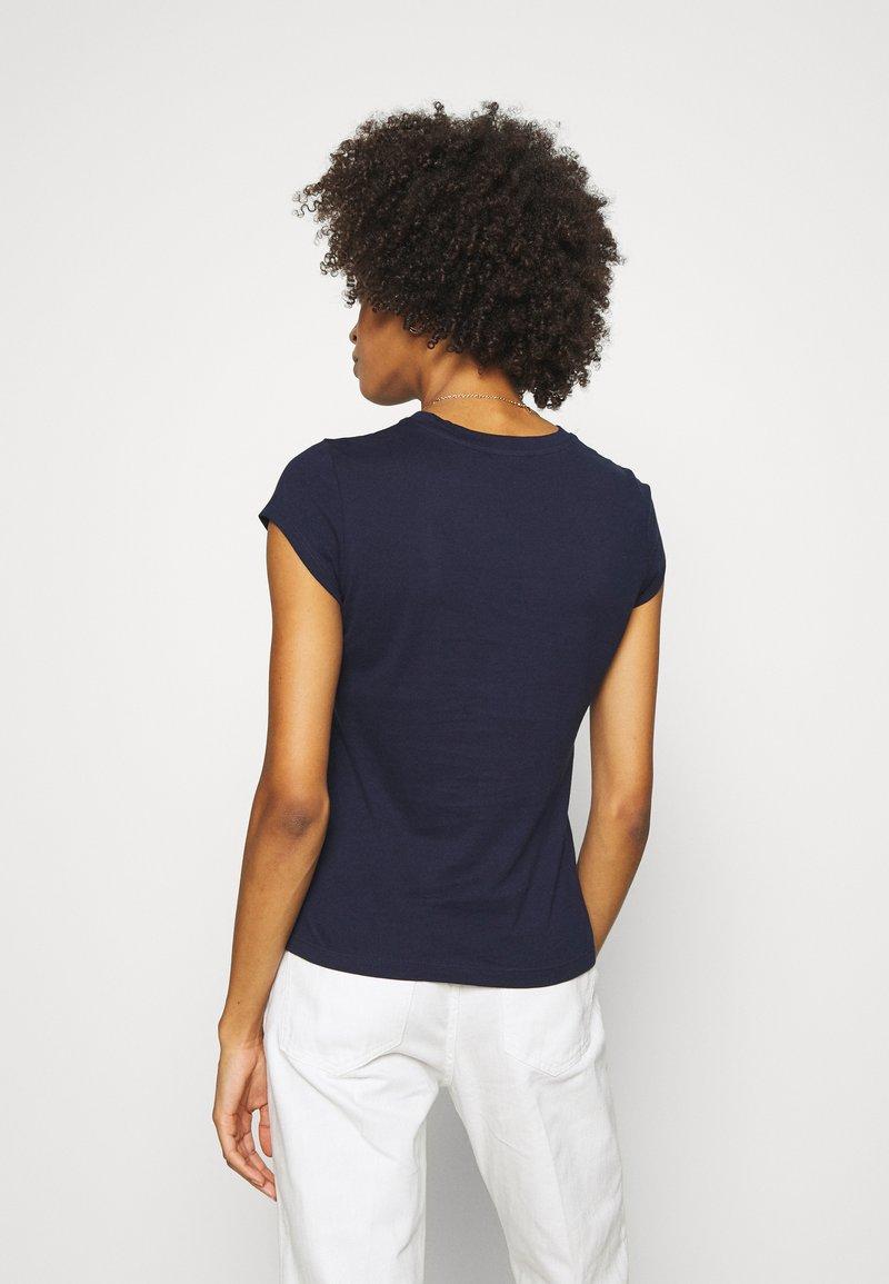 Anna Field T-Shirt basic - evening blue/dunkelblau hMExGM