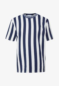 Topman - OFF SID  - Print T-shirt - navy - 3