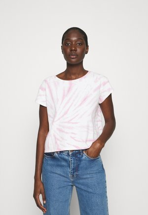 TIE DYE CAP SLEEVE BOXY TEE - Print T-shirt - lavender mist
