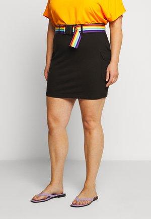 PRIDE STRIPE BELTED SKIRT - Blyantnederdel / pencil skirts - black