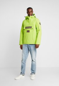 Napapijri - RAINFOREST WINTER - Windbreakers - yellow lime - 1