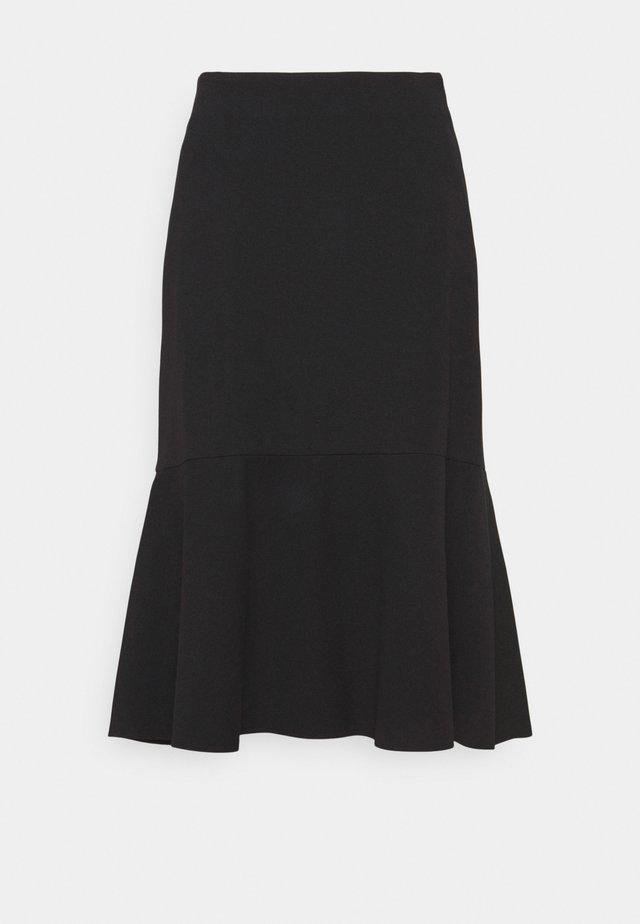 MIDI SKIRT PUNTO DIE ROMA - A-line skirt - black