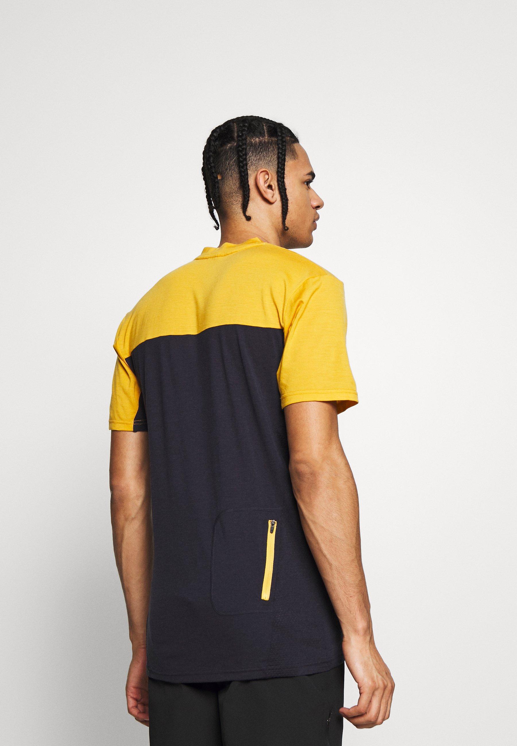 Mons Royale REDWOOD ENDURO - T-shirt imprimé - gold/iron