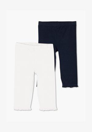 2 PACK - Leggings - Hosen - white/navy