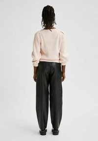 Selected Femme - Leather trousers - black - 2