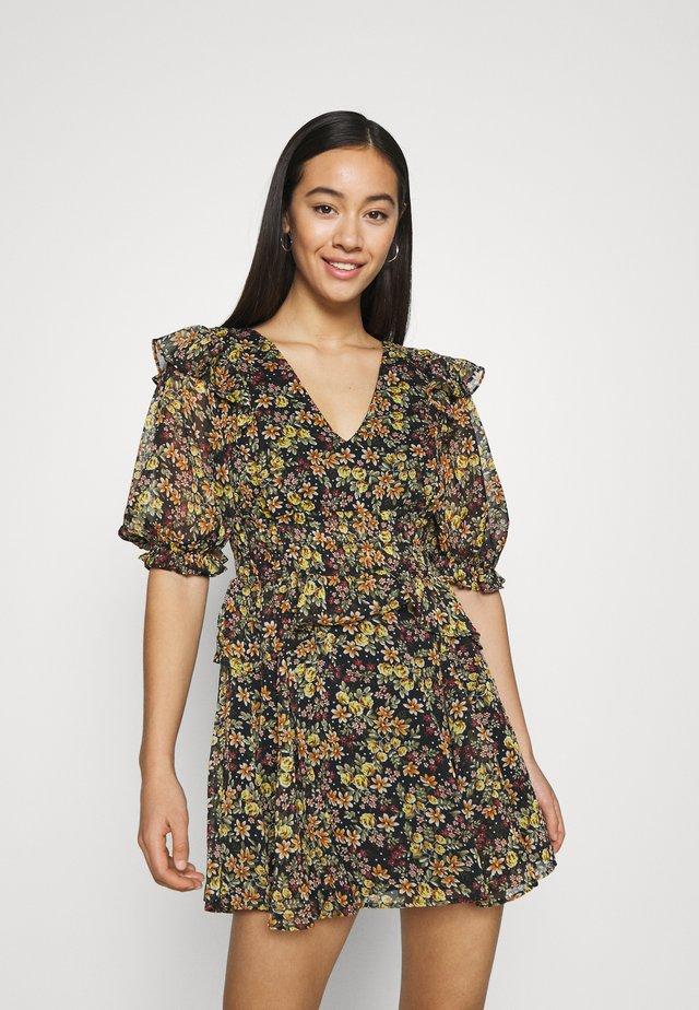 SHIRRED WAIST DITSY MINI - Robe d'été - multi-coloured