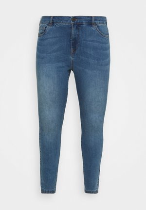 JABIA CROPPED - Jeans Skinny Fit - blue denim