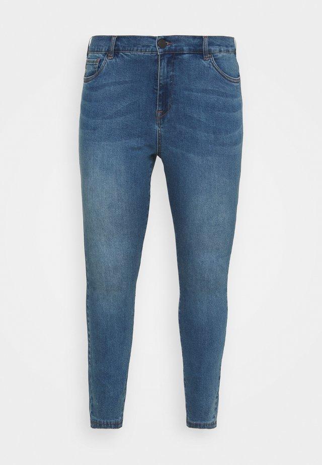 JABIA CROPPED - Skinny džíny - blue denim
