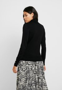 Dorothy Perkins - BUTTON CUFF ROLL NECK - Jumper - black - 2