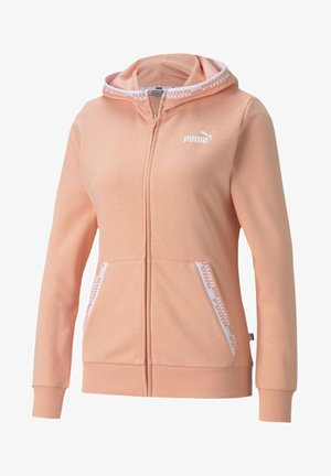 Zip-up hoodie - apricot blush