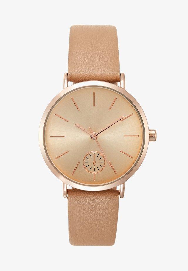 Chronograph watch - beige