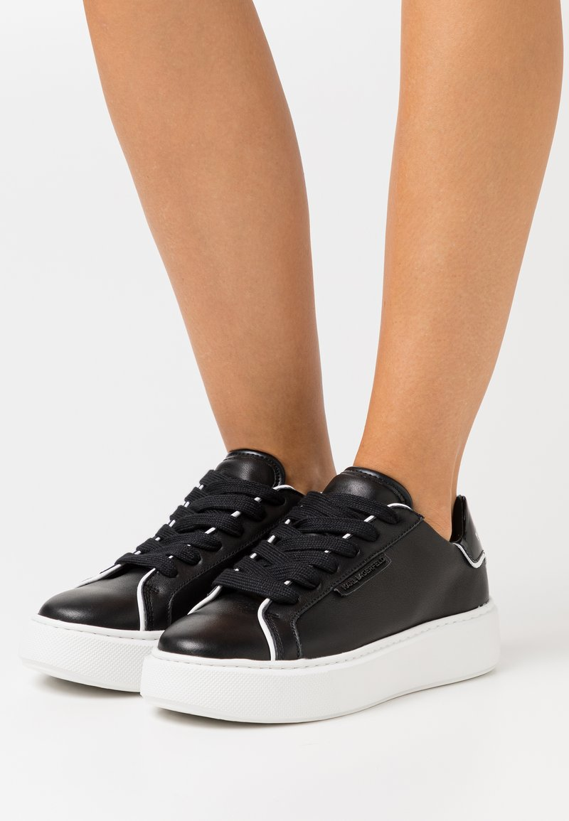 KARL LAGERFELD - MAXI KUP LACE - Sneakersy niskie - black