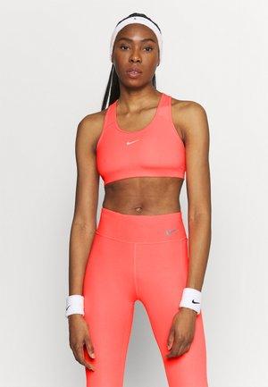 BRA PAD - Medium support sports bra - bright mango/white