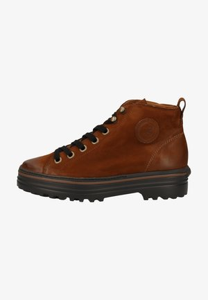 Platform ankle boots - rostbraun 037