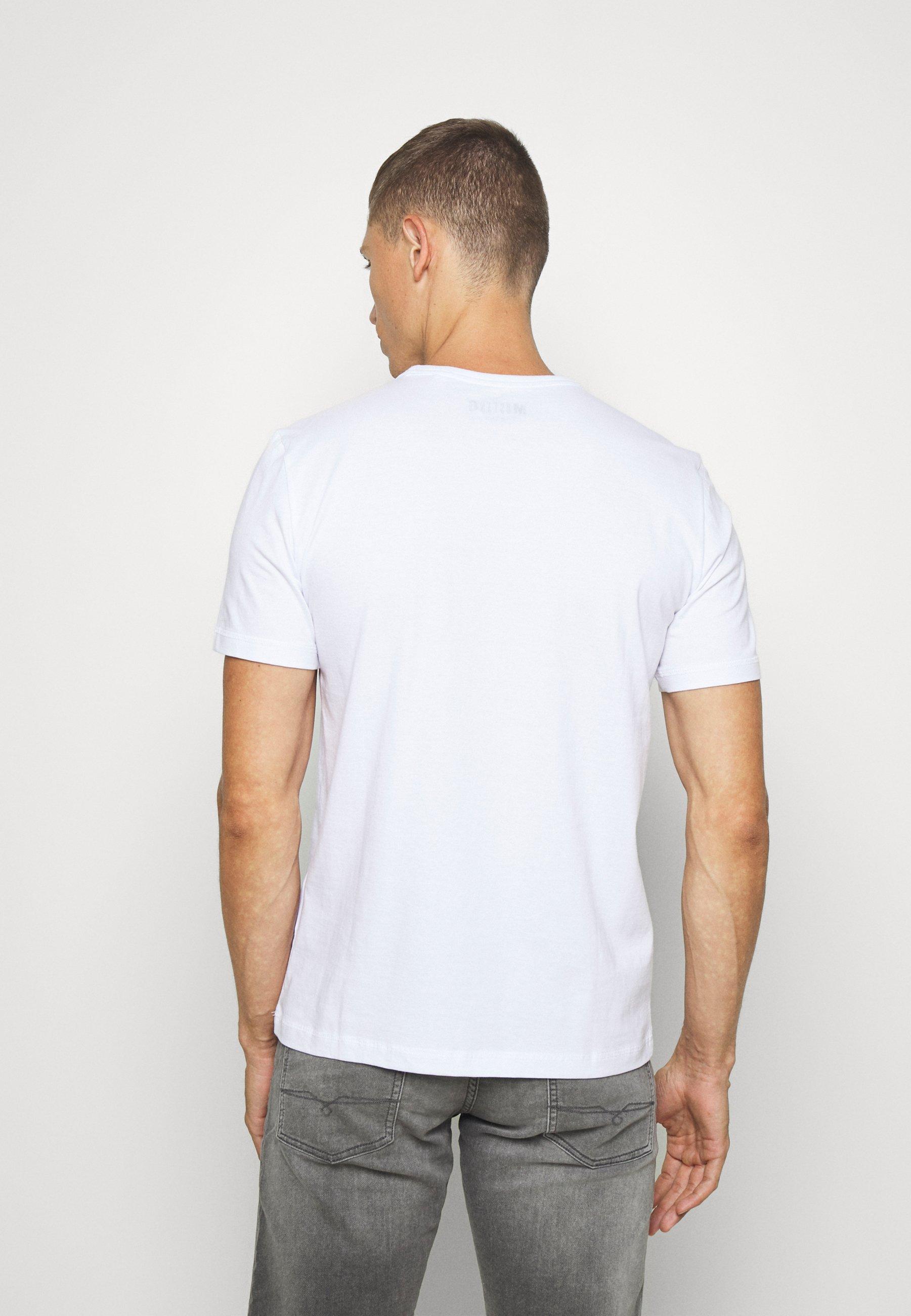 Mustang ALEX PRINT - Print T-shirt - general white PtFBE