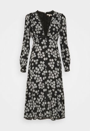LONG SLEEVE DRESS - Freizeitkleid - black/off white