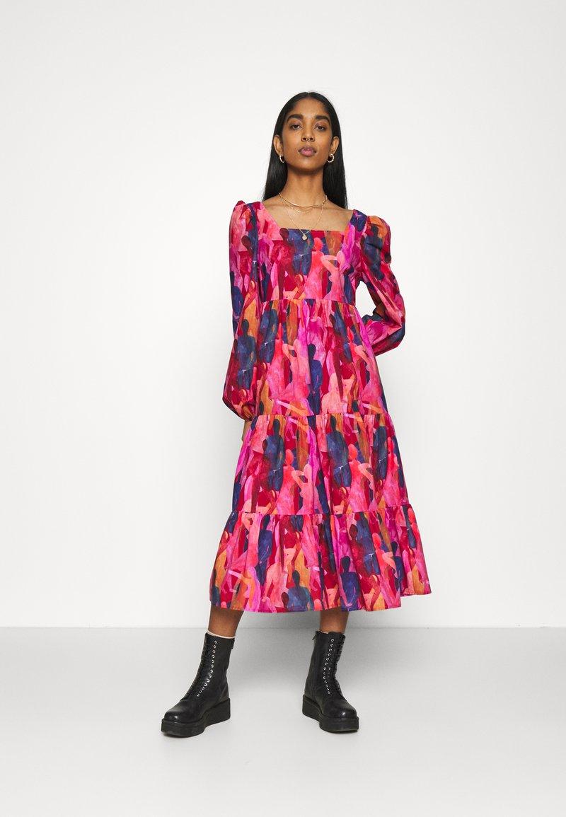 Never Fully Dressed - RAINBOW TILES MIDI DRESS - Day dress - multi