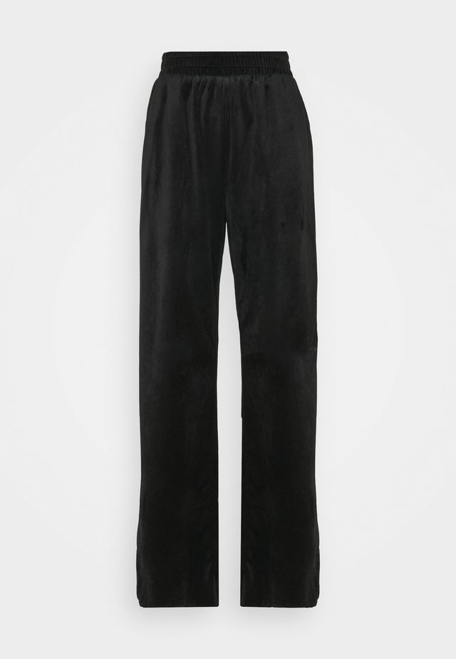 STRAIGHT LEG SPLIT FRONT TROUSER - Bukser - black