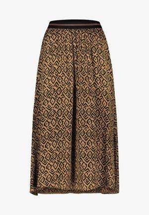 MELILA GRAPHIC VIS 520 - A-line skirt - noisette