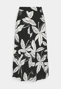 Marks & Spencer London - FLORAL TIER SKIRT - A-line skirt - black - 0
