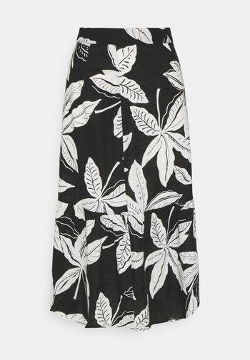 FLORAL TIER SKIRT - A-line skirt - black