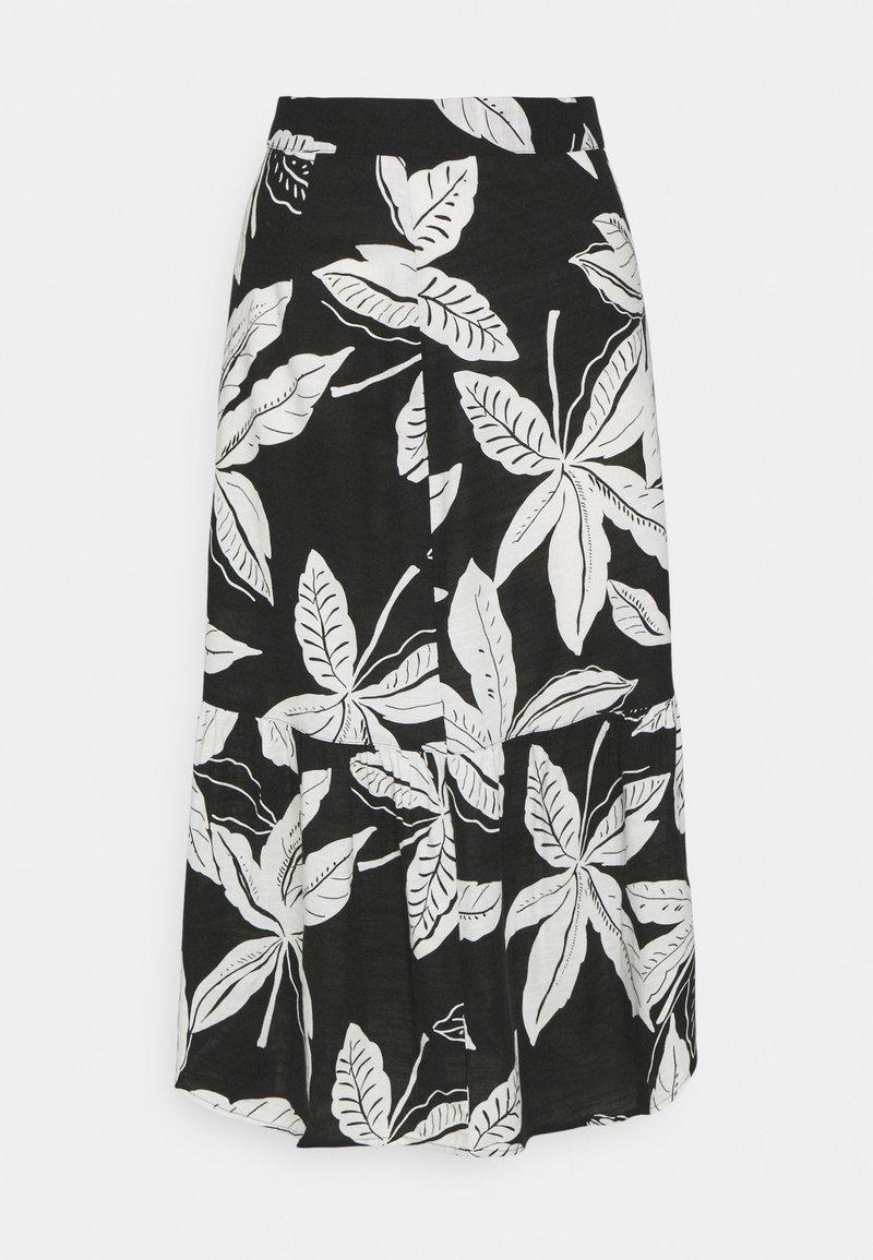 Marks & Spencer London - FLORAL TIER SKIRT - A-line skirt - black