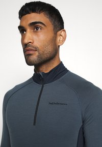 Peak Performance - MAGIC HALF ZIP - Long sleeved top - blue steel