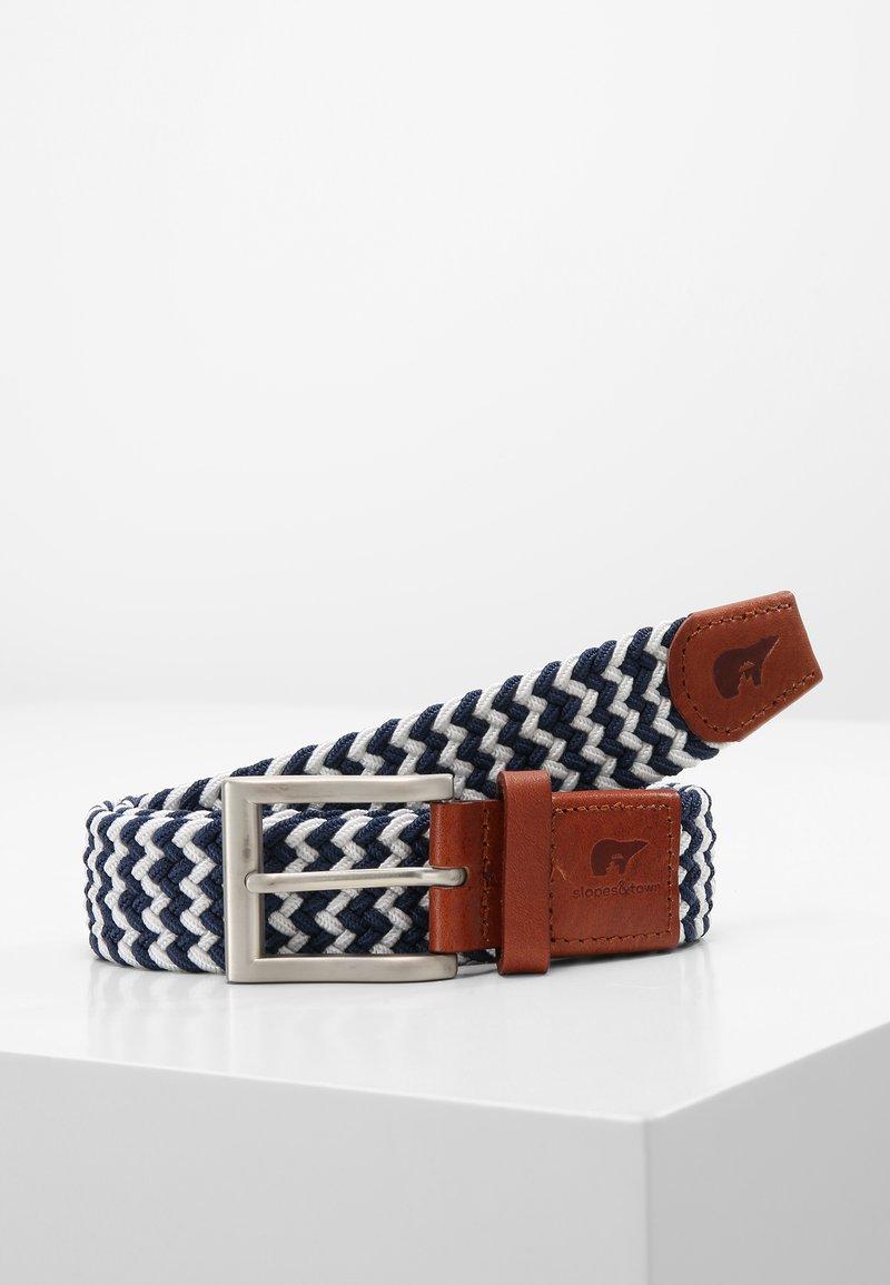 Slopes&Town - Braided belt - blue/white