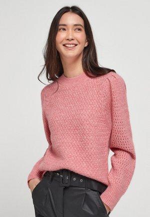 SOFT TEXTURED - Strikpullover /Striktrøjer - pink