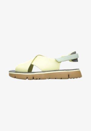 ORUGA - Walking sandals - light yellow