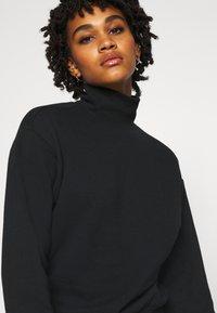 Even&Odd - High Neck Sweatshirt - Sweatshirt - black - 3