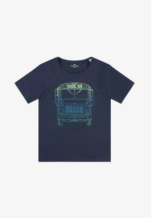 MIT BUNTEM PRINT - T-shirt print - dress blue/blue