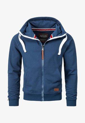 Zip-up hoodie - petrol