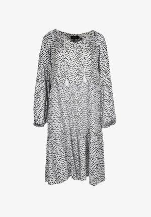 Maxi dress - weiß/navy
