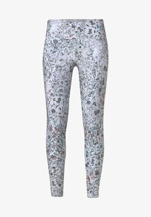 FLORAL PRINT LEGGINGS - Leggings - white