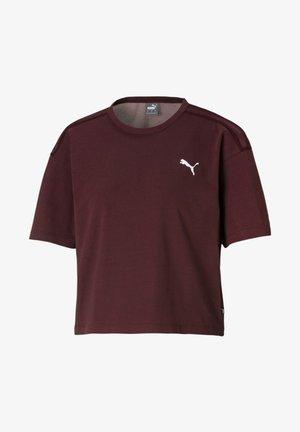 KVINDE - Print T-shirt - burgundy