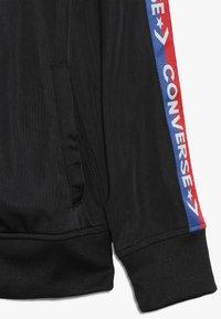 Converse - TRICOT TAPING TRACK JACKET - Chaqueta de entrenamiento - black/blue - 2