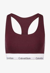 Calvin Klein Underwear - MODERN BRALETTE - Biustonosz bustier - deep maroon/white - 3
