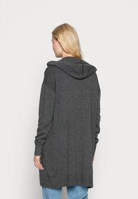edc by Esprit - LONG HOODED - Cardigan - anthracite - 2