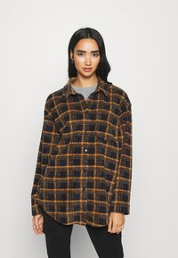 BDG Urban Outfitters - BRUSHED CHECKED SHACKET - Button-down blouse - orange - 0