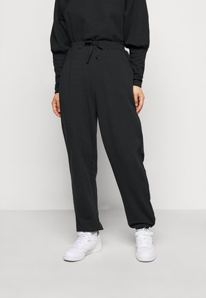 PCROKKA  - Tracksuit bottoms - black