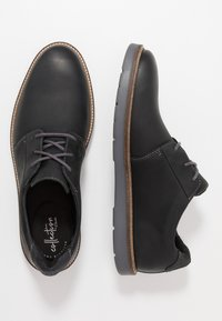 Clarks - GRANDIN PLAIN - Casual lace-ups - black - 1