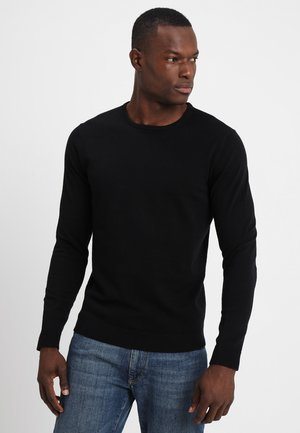 SLHTOWER CREW NECK  - Stickad tröja - black