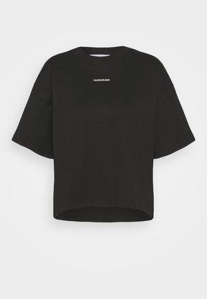 MICRO BRANDING LOOSE - T-paita - black
