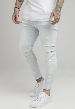 BLEACH SPLAT RIPPED KNEE - Jeans Skinny Fit - ultra light wash