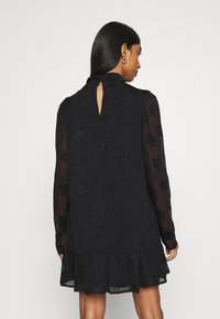 Missguided - HIGH NECK FRILL HEM DRESS - Day dress - black - 2