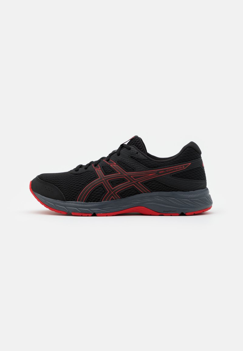 ASICS - GEL CONTEND 6 - Neutral running shoes - black/classic red