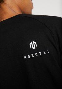 MOROTAI - PREMIUM BLOCK LOGO  - Print T-shirt - black - 5